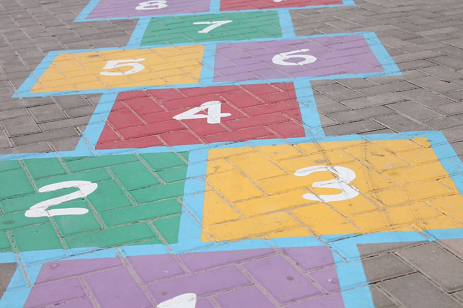 hopscotch steps numbers two
